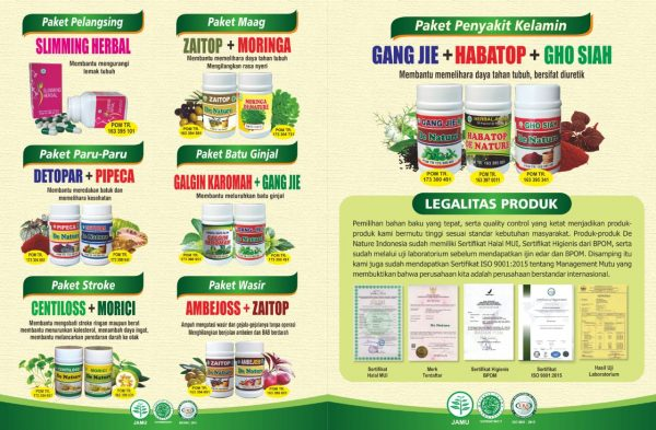 obat herbal de nature official resmi asli cilacap